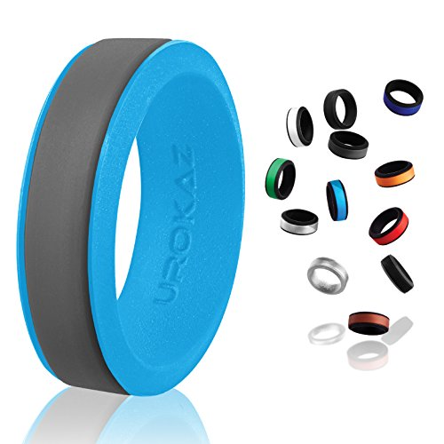 UROKAZ - Silicone Wedding Ring, The Only Ring that Fits Your Lifestyle - Whether You are Single or Married, UROKAZ Ring is Right for You - It is Fashionable, Flexible, - Tiffany Key Oval
