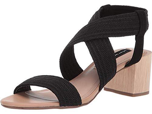 (STEVEN by Steve Madden Women's Release Sandal, Black/Multi, 6.5 M)