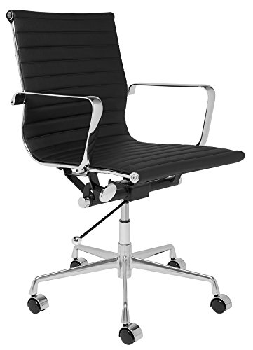 Laura Davidson Furniture SOHO Ribbed Management Office Chair (Black)