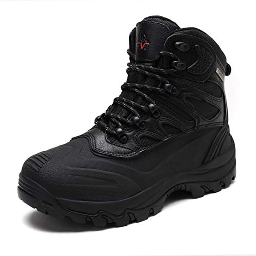 NORTIV 8 Men's Black Insulated Waterproof Work Snow Boots Size 8 M US 2161202