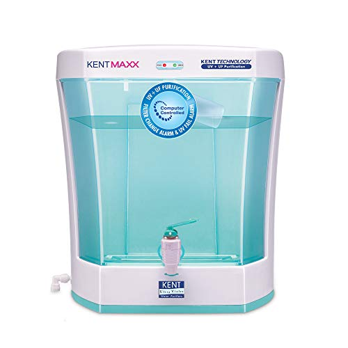 KENT Maxx 7-Litres Wall Mountable/Table Top UV + UF (White and Blue) 60-Ltr/hr Water Purifier with...