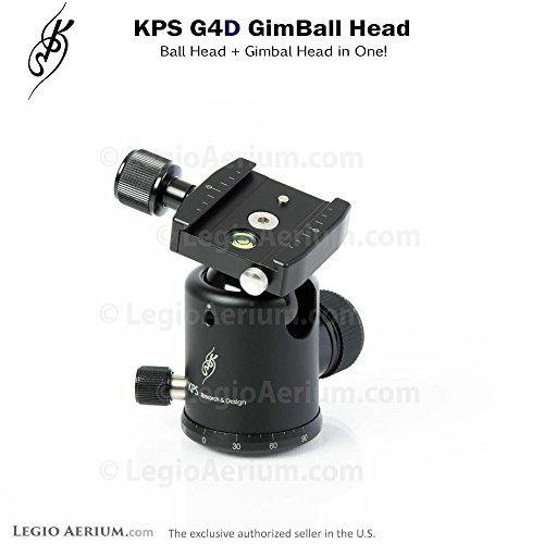KPS G4D GimBall Head - Professional 40mm Ball Head with Gimbal by KPS