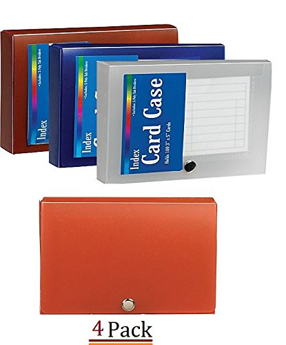 1InTheOffice Index Card Case 3 X 5 Index Card Holder