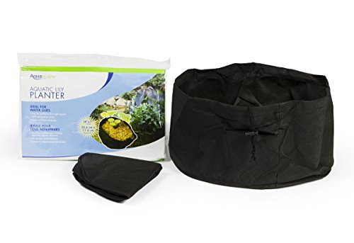 Aquascape Aquatic Lily Plant Pots for Pond and Water Garden, 14-inch x 7-inch, Black, 2-Pack | ()