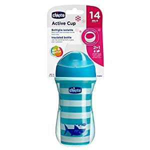 Chicco Active Cup - Taza (266 ml, 14 meses y +), diseño de tiburón ...