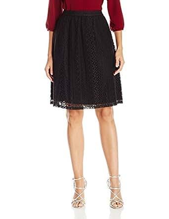 Lark & Ro Women's Lace Skirt, Black, X-Small