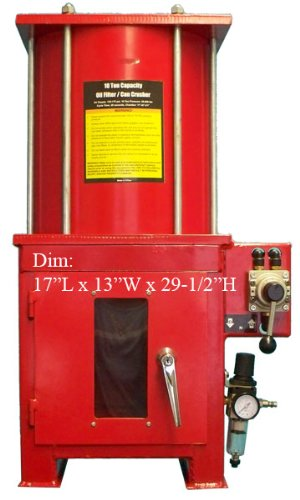 Crusher Stand - 10 Ton Air Hydraulic Oil Filter Can Crusher with Stand