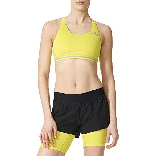 adidas Performance Womens Techfit Chill Sports Bra - Green - L ()