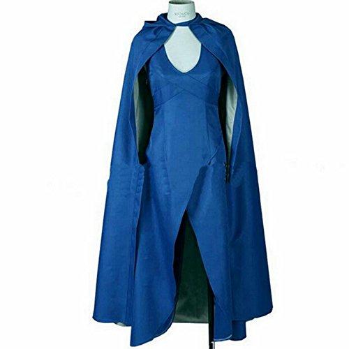 Game of Thrones Daenerys Targaryen Dress Costume Women Halloween Cosplay Costume (S)
