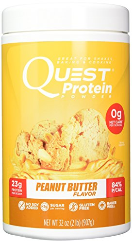 Quest Nutrition Powder Peanut Butter Protein Powder, High Protein, Low Carb, Gluten Free, Soy Free, 2lb