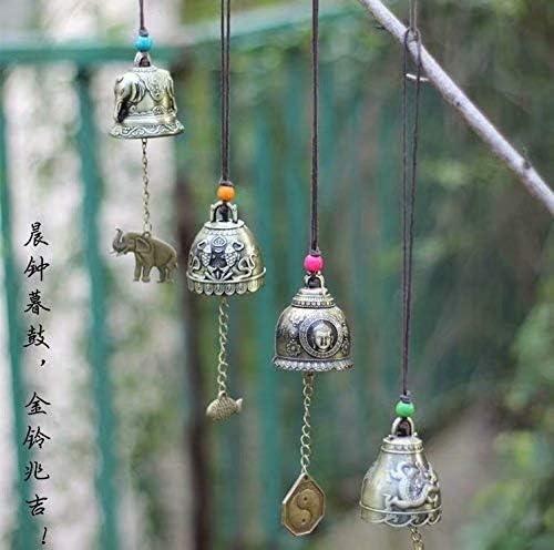 1x Chinois Feng Shui Cloche B/én/édiction Bonne Fortune Chance Suspendus Carillon De Vent