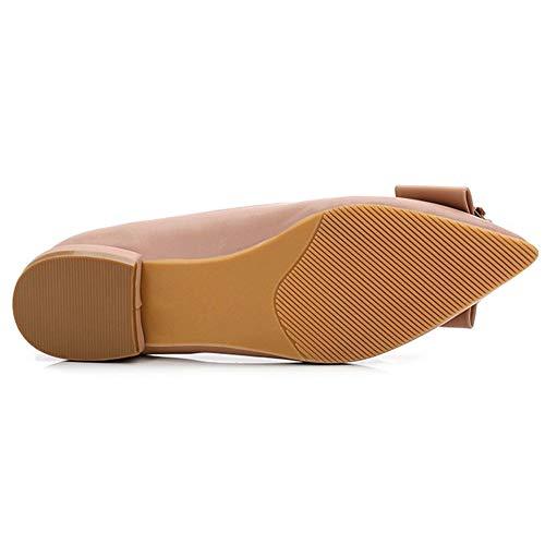 Las Punta Blando Metal 02 Zapatos Con Informales Señoras De Profundos Perezosos Pu Hebilla Calzados Poco Y Antideslizantes Fondo ERxUwp8Anq