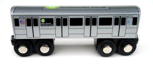 Munipals NYC Subway G Car Toy Train Wooden Railway ()