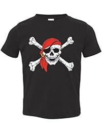 Pirate Skull Red Bandanna Toddler T-shirt