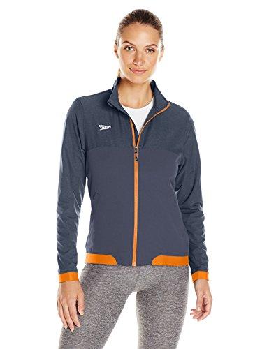 Speedo Tech Warm Up Jacket, Orange, Large