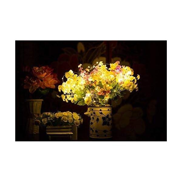 Stringa Luci LED, 2 x 10M Catena Luminosa Batteria Luci Natale 100 LEDs per Natalizie Decorazioni Interno ed Esterno Telecomando 8 Modalità Impermeabile(Giallo Caldo) 4 spesavip