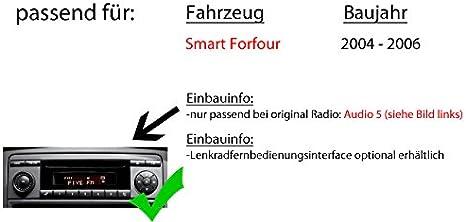 Autoradio Radio Jvc Kw R930bt Cd Bluetooth Android Apple Mp3 Usb Einbauzubehör Einbauset Für Smart Forfour 454 Just Sound Best Choice For Caraudio Navigation