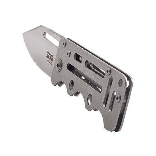 SOG-CashCard-Folding-Knife-EZ1-CP-Stainless-Steel-Handle-Money-Clip-Satin-Polished-275-Blade