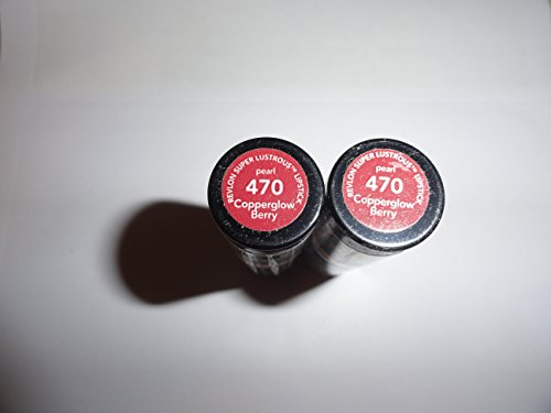 Super Lustrous Lipstick PEARL COPPERGLOW BERRY #470 (PACK OF 2) BY REVLON