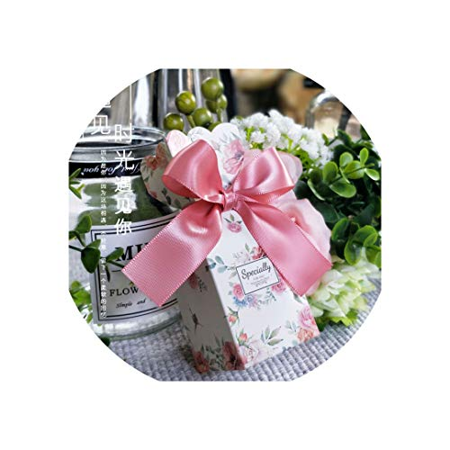 Wedding and Candy Box Gift Bag Paperboard Gift Box Chocolate Boxes Cookies Bag Kids Birthday Supplies Wedding Decoration,Plum,100 Pcs]()