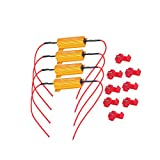 Ocamo Load Resistors - 4Pcs 50W 6ohm Load Resistors Fix LED Bulb Fast Hyper Flash Turn Signal Blink Error Code