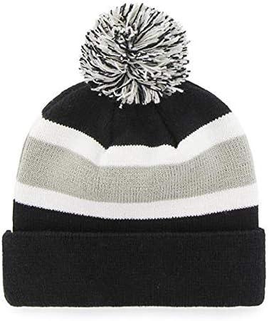 EPL Cuffed Winter Knit Toque Cap 47 Brand Breakaway Fashion Cuff Beanie Hat with POM POM