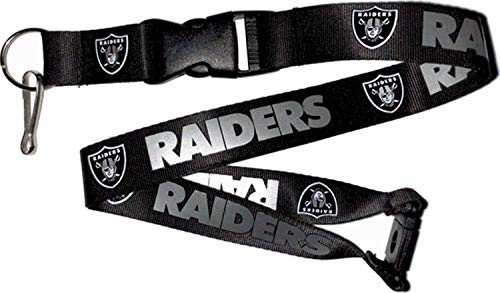 aminco NFL Oakland Raiders Team Lanyard, Black