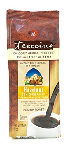 Teeccino Mediterranean Herbal Coffee Hazelnut 11 oz Pkg