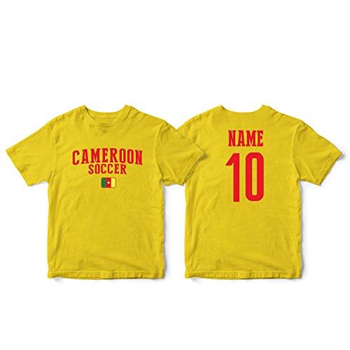 (nobrand Cameroon Men's Flag National Pride Man Soccer Team T-Shirt Soccer Jersey (Men Yellow L))