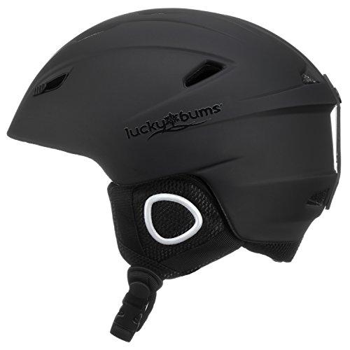 Lucky Bums Powder Series, Snow Sport Helmet, Black, Medium