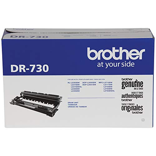 Black Toner Unit - Brother Genuine Drum Unit, DR730, Seamless Integration, Yields Up to 12,000 Pages, Black (Drum unit, NOT toner)