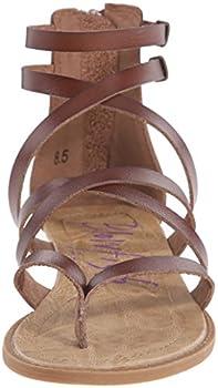 Blowfish Women's Bungalow Sandal, Whiskey, 10 M Us 3