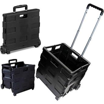 25 kg carrito de la compra plegable para botas de caja de caja de carro coche Van Camping negro: Amazon.es: Amazon.es