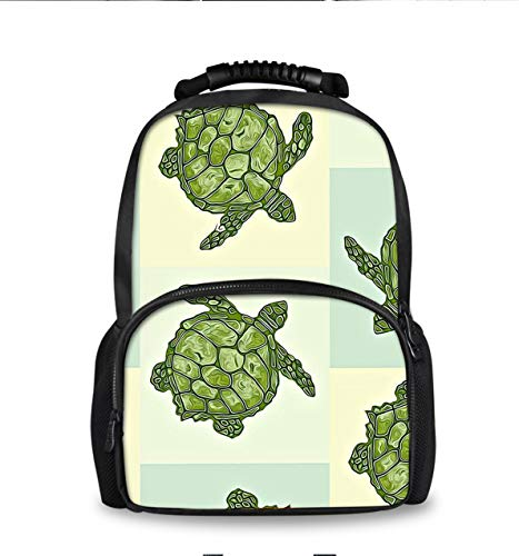 (Lightweight Durable Bookbag Backpack for College High School, Kids Adult Youth School Bags, Outdoor Travel Hiking Camping Daypack - Seaturtle Sea Turtle)