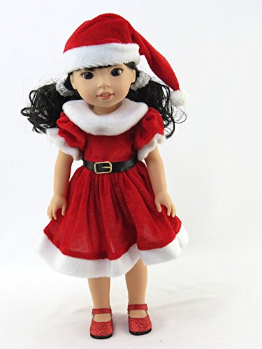 Red Santa Dress and Hat| Fits 14