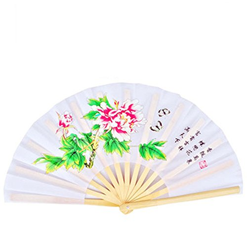 OPACC 14 inch Bamboo Chinese Fan Tai Chi Kung Fu Folding for sale  Delivered anywhere in Canada