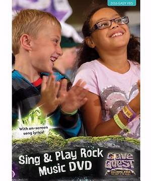 Cave Quest Sing & Play Rock Music DVD (Kids On The Move Childrens Church Curriculum)