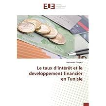 Le taux d'intérêt et le developpement financier en Tunisie