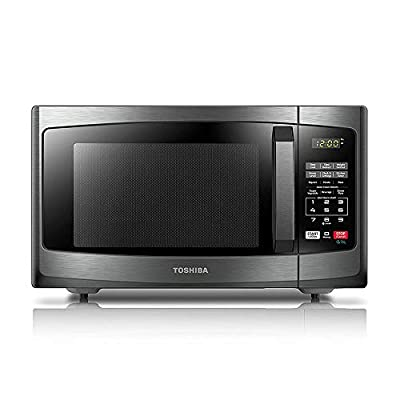 Toshiba EM925A5A-BS Microwave Oven with Sound On/Off and ECO Mode,0.9 Cu.ft. 900W, Black Stainless Steel