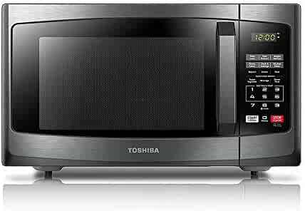 Toshiba EM925A5A-BS Microwave Oven with Sound On/Off ECO Mode and LED Lighting, 0.9 Cu.ft, Black Stainless