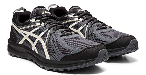 ASICS Frequent Trail Men's Running Shoes, Black/Birch, 12 M US (Asics Running Shoes Trail Men)