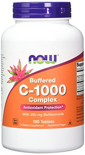 NOW Vitamin C-1000 Complex, 180 Buffered Tablets