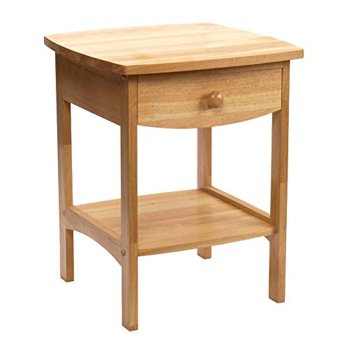 Bedroom Oak Accent Table - Winsome Wood 82218 Claire Accent Table, Natural
