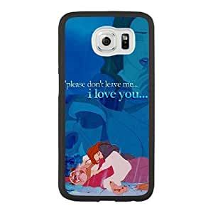 Grouden R Create and Design Phone Case,Beauty and the Beast Cell Phone Case for Samsung Galaxy S6 Black + Tempered Glass Screen Protector (Free) GHL-2967016