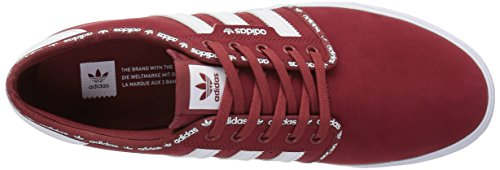 Adidas Originali Mens Scarpe Seeley Mistero Rosso Bianco / Bianco