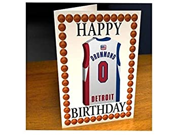 498dce350 NBA BASKETBALL JERSEY THEMED GREETING CARDS - PERSONALISED BIRTHDAY CARD - ANY  NAME