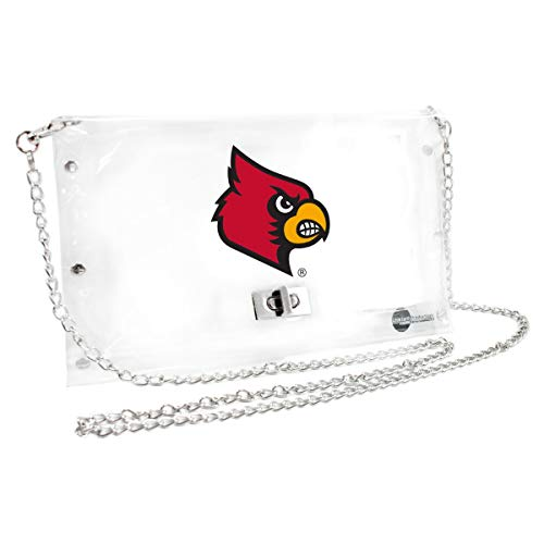(Littlearth Louisville Cardinals  NCAA Envelope Purse, Clear  - 10 x 0.5 x 6.5 - Inch)