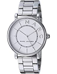 Marc Jacobs Womens Roxy Quartz Stainless Steel Casual Watch, Color:Silver-Toned (Model: MJ3521)