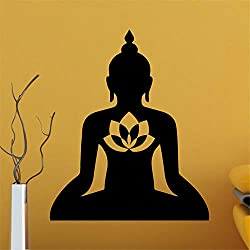Quote Mirror Decal Quotes Vinyl Wall Decals Buddha Silhouettes for Living Room Bedroom Nursery Kids Room