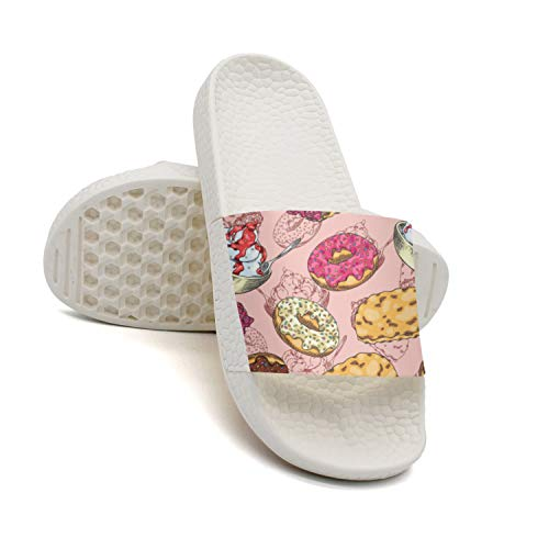 HSJDAPOCOAQ for Donuts2 Women Surfer2 Doughnuts Pug Donut Indoor Flops flip 4Or4Twxq